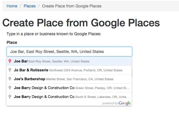 Meeting Planner The Google Place Autocomplete Service