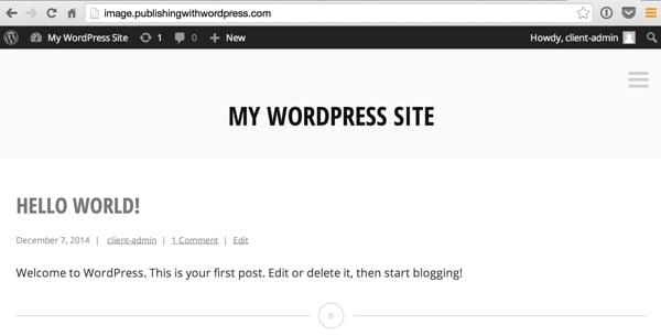 Your Minnow WordPress Home Page