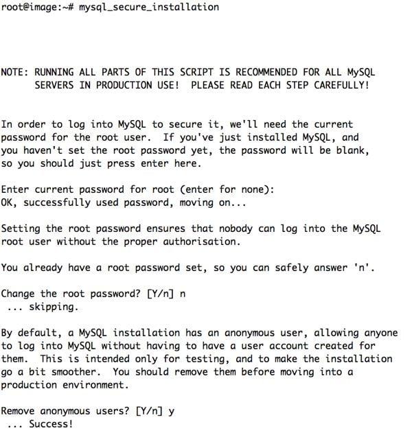 MySQL Secure Installation Script