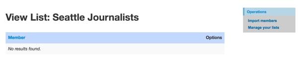Twitter List API View List Members empty
