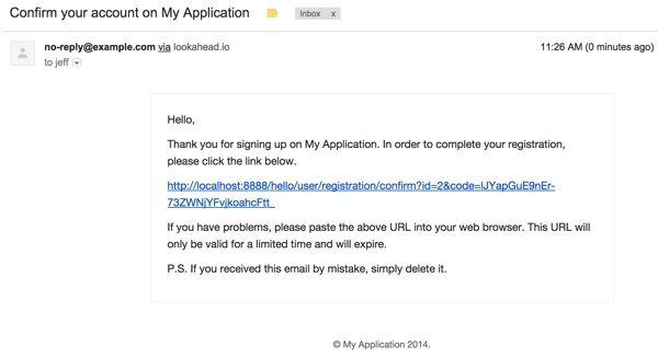 Yii2-User Confirmation Email