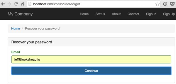Yii2-User Forgot Your Password