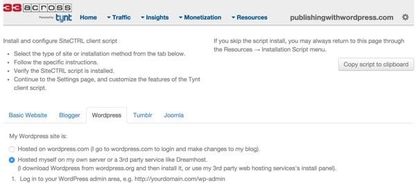 Tynt Installation Guide for WordPress