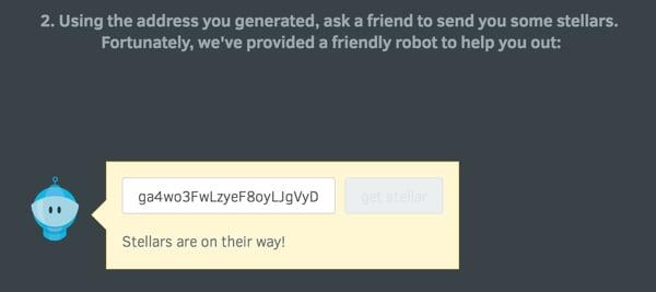 Steller API Demonstration Wizard Robot Currency Delivery