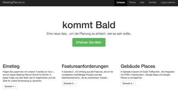 Meeting Planner German Home Page