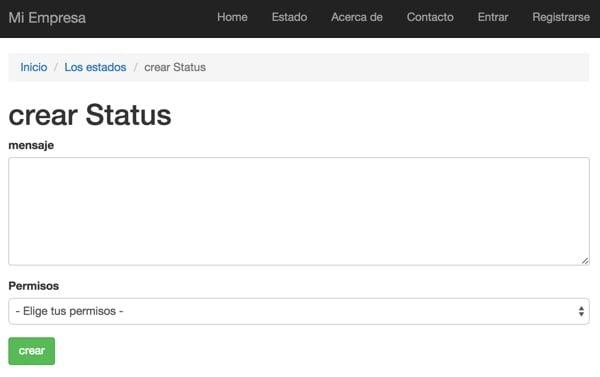 Yii2 I18n Create a Status Update in Spanish Form