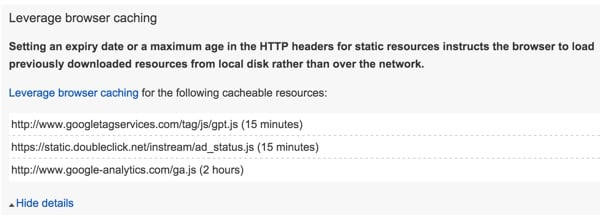 Google PageSpeed - Leverage Browser Caching