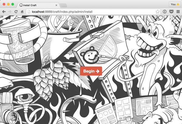 Craft CMS Installation Home Page