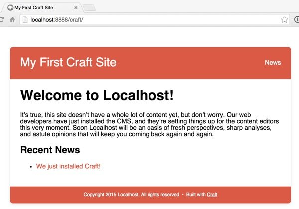 Craft Default Site Without Real Template