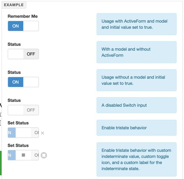 Examples of The Bootstrap Switch Input
