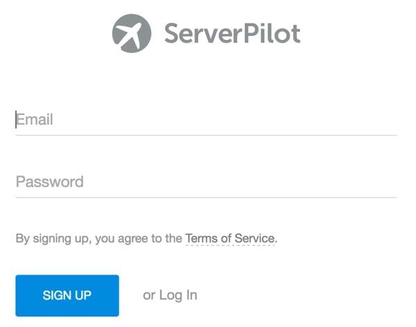 Server Pilot Sign Up