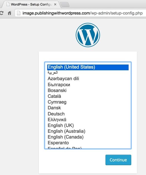 WordPress Set Language