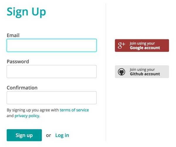 Mailtrap Signup You can sign up via Google or Github