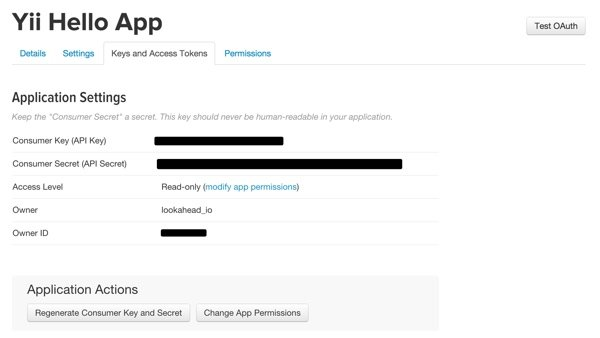 Twitter Apps App Keys and Access Tokens
