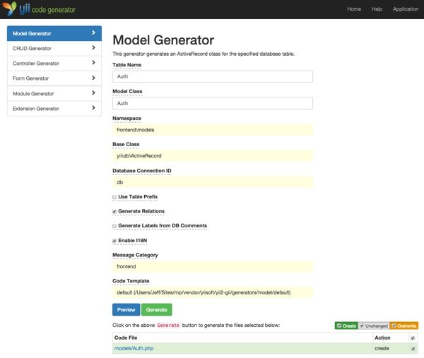 Building Your Startup OAuth - Yiis Gii Model Generator of Auth Model