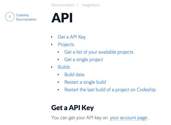 Codeship API Documentation Script and Automate the Codeship