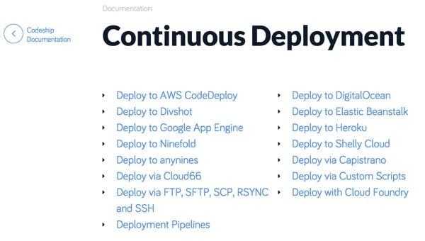 Codeship Continuous Deployment Documentation
