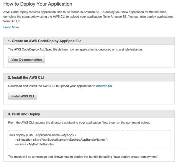 Codeship AWS Code Deploy How to Deploy Your Application