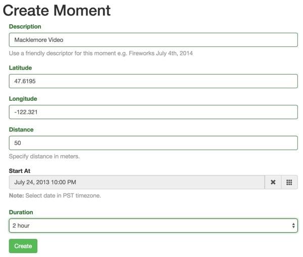 Create a Moment