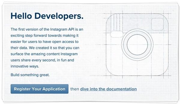Instagram Hello Developers
