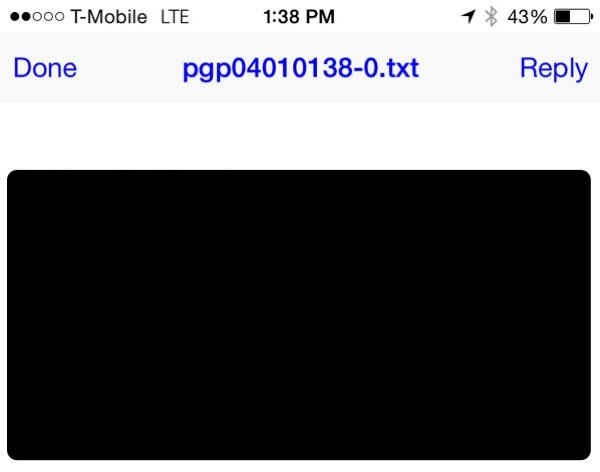 iPGMail Reading the Encrypted Message