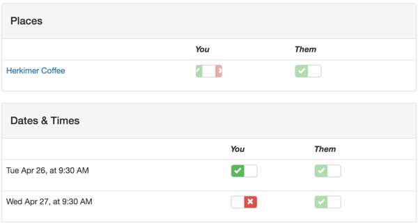 Customizing Meeting View - The You and Them Columns for Selection Data