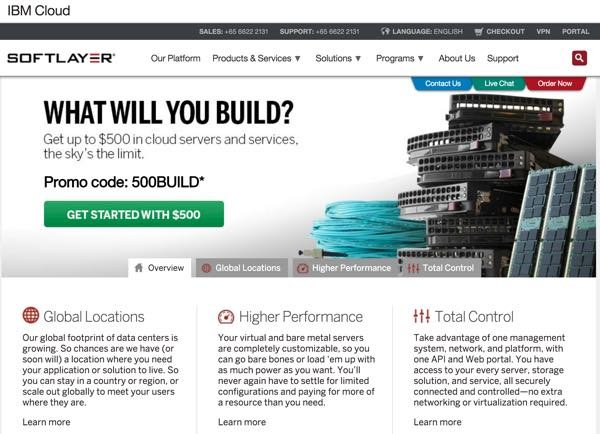 Amazon AWS Alternatives - IBM SoftLayer Cloud Offerings