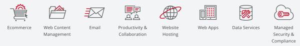 Amazon AWS Alternatives - RackSpace Feature Categories