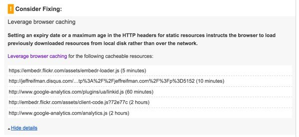 PageSpeed Leverage Browser Caching from External Scripts