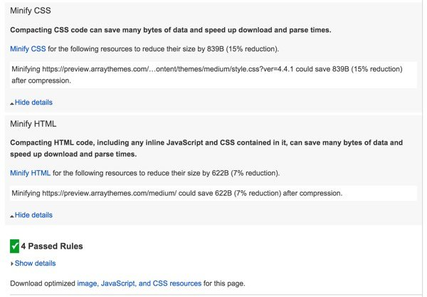 PageSpeed Optimization Array Themes Mobile Part C