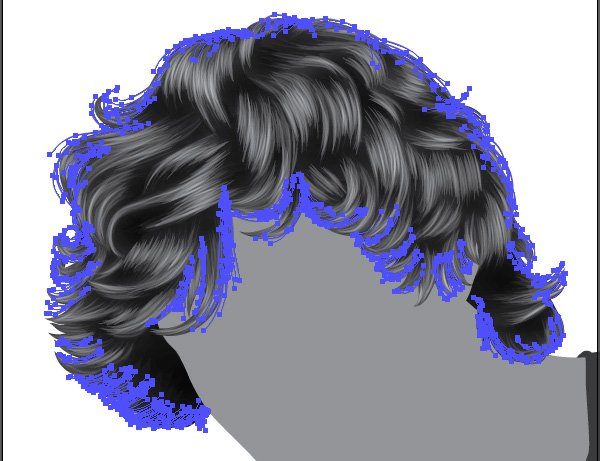 Add hair on the base