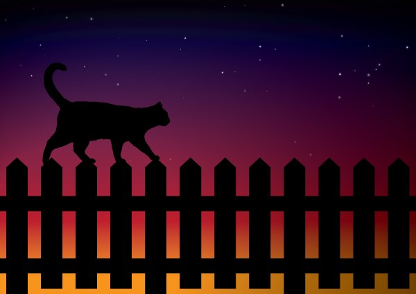 Play With Blends and Image Trace to Create a Simple Cat Scene in Adobe Illustrator