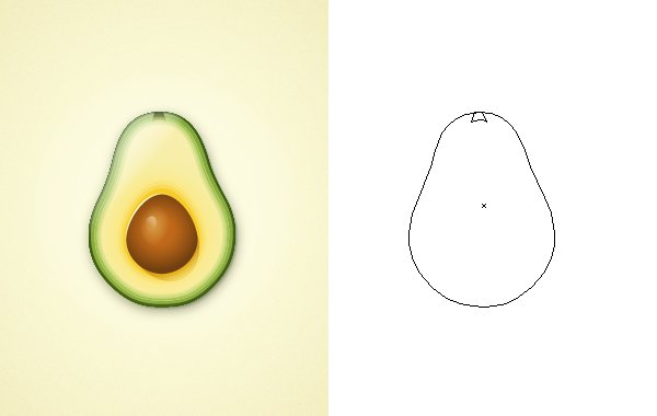 Create an Avocado With Only One Shape in Adobe Illustrator