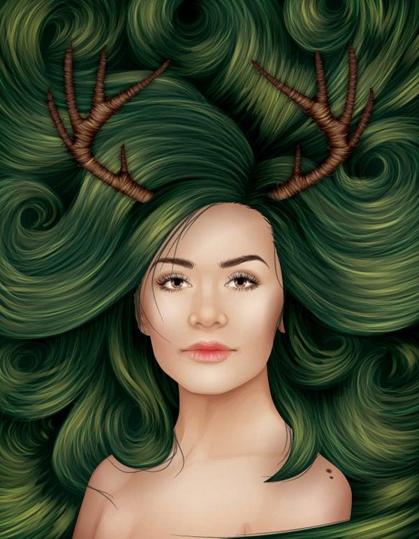 Creative Vector Hair