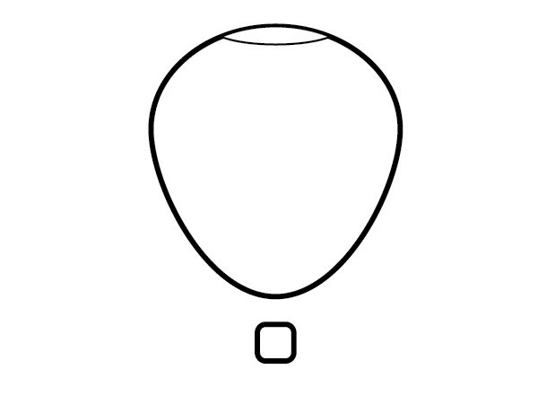 The base of the hot air balloon