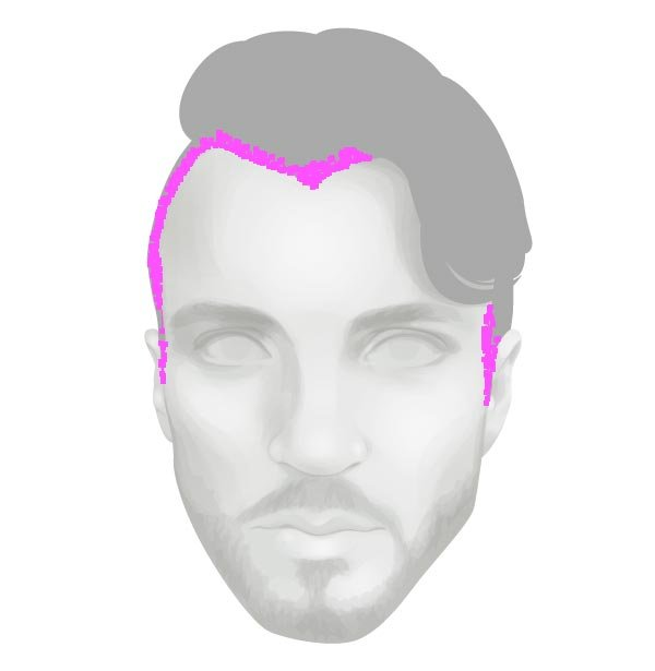 Adding a more detailed hair line