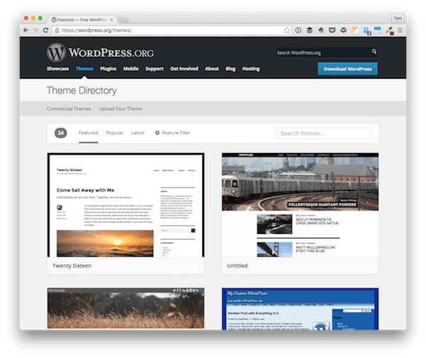 The WordPress Theme Repository
