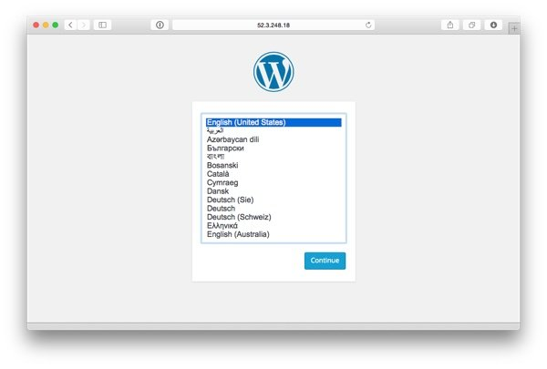 Visiting the site youll find WordPress running