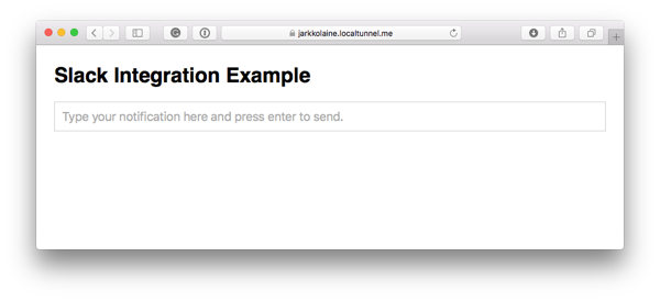 This is what our example application will look like