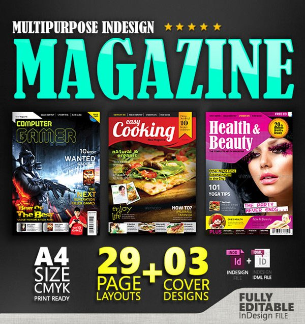 32 Pages Indesign Magazine