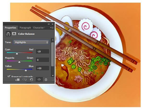 Use Color Balance to Brighten the Highlights