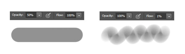 Opacity and Flow in Photoshop