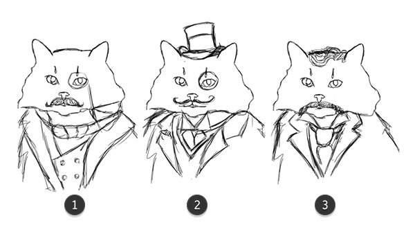Sketch Outfits for the Cat