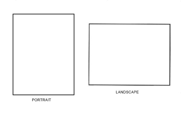 Create Thumbnail Drawings for Portrait or Landscape Paintings