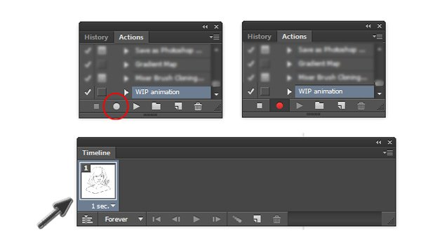 Start Recording Your GIF Photoshop Action