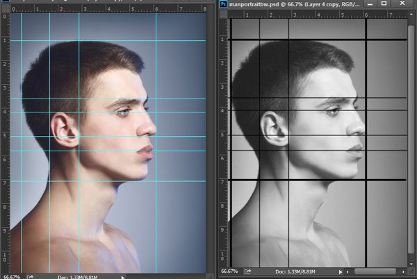 Convert Guidelines to Lines with the Pen Tool in Photoshop