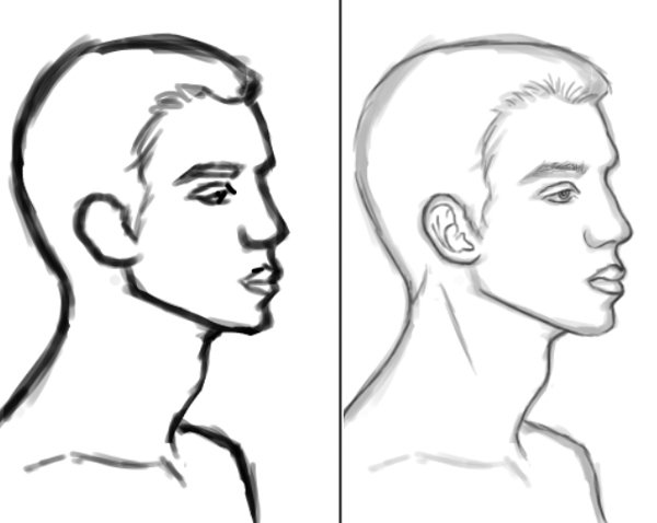 Sketching Male Faces in Adobe Photoshop