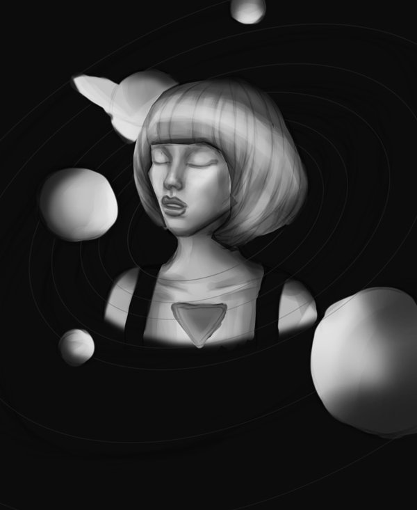 Grayscale Digital Painting in Adobe Photoshop