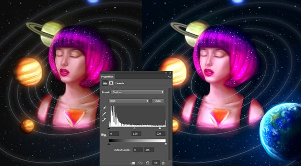 Use Levels to Adjust Color for Digital Paintings