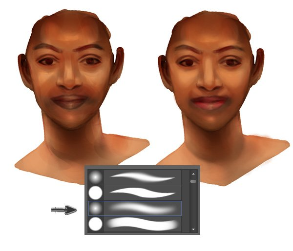 Use Soft Brushes to Smooth Skin for Realism in Photoshop